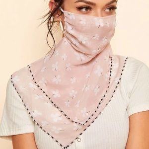 Accessories - 🎉JUST IN! Pink and White Floral Scarf Face Mask